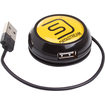 Accessory Genie - Compact 4 Port USB Expansion Hub for iPod Touch/Samsung Galaxy Player 5.0/Sony Walkman S-544 & More