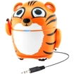 GOgroove - Pal Tiger Portable Rechargeable Speaker w/ Dual High-Excursion Drivers & Passive Subwoofer - Multi