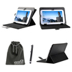 EEEKit - Bundle 3 in 1 for Coby Kyros MID8042, Multi 360 Degree Angle Stand Up Case + Stylus + Pouch