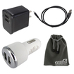 EEEKit - Bundle 4 in 1 f/ Dragon Touch Tablet, Car Charger+Wall Charger+USB A Male to Micro B Cable+Pouch