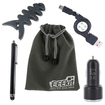 EEEKit - Bundle 5 in 1 for Kindle Fire Tablet, Car Charger + USB A M to Micro B M Retractable Cable + Stylus