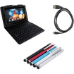 EEEKit - Bundle 3 in 1 for Blackberry PlayBook, Wireless Bluetooth Keyboard Case + Stylus + Micro HDMI Cable