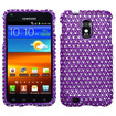 Insten - Case For Samsung D710 Epic 4G Touch - Purple/White Dots Diamante