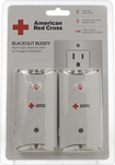 Eton - American Red Cross Blackout Buddy Rechargeable Emergency Flashlight (2-Pack) - White