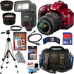Nikon - Bundle D5200 24.1 MP CMOS Digital SLR Camera (Red)