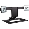 HP - Adjustable Dual Monitor Stand - Black, Silver - Black, Silver