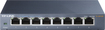 TP-LINK - 8-Port 10/100/1000 Mbps Gigabit Ethernet Metal Switch - Gray