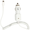 4XEM - 8-Pin Lightning Car Charger For iPod/iPhone/iPad - White - White