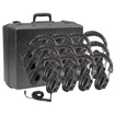 Califone - 3068-12 Set Of 12 Switchable Stereo-Mono Headphones With Carry Case - Black - Black