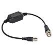 VideoSecu - Passive BNC Video Ground Loop Isolator Noise Filter for CCTV Security System 1MU - Black - Black