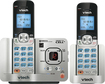 VTech - Connect to Cell DECT 6.0 Expandable Cordless Phone System with Answering System