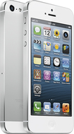 Apple® - iPhone® 5 with 16GB Memory Mobile Phone - White & Silver