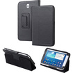 "Fosmon - Folio Leather Case Cover Stand For Samsung Galaxy Tab 3 7.0"" Tablet P3200 - Black"