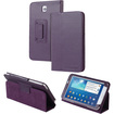 "Fosmon - Folio Leather Case Cover Stand For Samsung Galaxy Tab 3 7.0"" Tablet P3200 - Purple"
