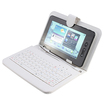 "AGPtek - Keyboard/Cover Case with MINI USB Port for 7"" Tablet PC - White"