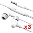 eForCity - Stereo Earbud Headset and Mic For iPod Touch 4th Gen - White - White