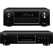 Denon - AVR-X4000CI 7.2 Channel Integrated Network AV Receiver & DBT-3313UDCI Blu-Ray Disc Player Bundle