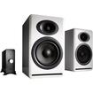 Audioengine - P4 Passive Bookshelf Speakers & N22 Audio Amplifier Desktop Audio Speaker System (White)