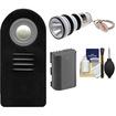 Vivitar - RC-6 Wireless Shutter Release for Canon DSLR for EOS 60D/7D/5D Mark III with LP-E6 Battery/Flash Kit