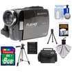Bell and Howell - DV5HDZ ZoomTouch 1080p HD Camcorder & Case with 8GB Card + Case + Tripod + Cleaning Acc Kit