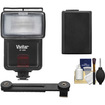 Vivitar - SF-4000 Bounce Flash with Bracket + NP-FW50 Battery + Cleaning Kit for NEX-C3/NEX-F3/NEX-5N/NEX-5R