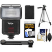 Vivitar - SF-4000 Bounce Flash & Bracket, NP-FW50 Battery, Tripod, Cleaner Kit for NEX-C3/NEX-F3/NEX-5N/NEX-5R