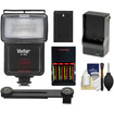 Vivitar - SF-4000 Bounce Flash with Bracket + EN-EL20 Battery + AA Battery/Charger Kit for Nikon 1 J1, J2