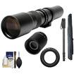 Samyang - 500mm f/8.0 Telephoto Lens & 2x Tele with Monopod + Acc Kit for Nikon 1 J1 J2 V1 Digital Cameras