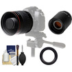 Vivitar - 500mm f/6.3 Mirror Lens (T Mount) with 2x Teleconverter (=1000mm) + Accessory Kit