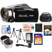 Bell and Howell - DNV16HDZ 1080p Camera/Camcorder with NV + 32GB Card + Case + Tripod + Video Light + Wide/Tele Lens
