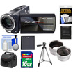 Bell and Howell - DV2300HDZ 23x 1080p Camera/Camcorder with 16GB Card + Battery + Case + Tripod + Wide/Tele Lens