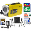 Bell and Howell - Splash HD WV30 Waterproof Camera/Camcorder with 16GB Card + LED Light + 2 Tripods + Acc Kit