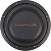 PrecisionPower - PHS13 13-inch Single 4 Ohm Phantom Series Car Subwoofer - Black