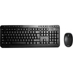 Adesso - 2.4 GHz Wireless Desktop Keyboard & Mouse Combo - Black - Black