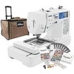Brother - LB6800PRW Project Runway Sewing & Embroidery Machine with Grand Slam Embroidery Package - White