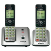 VTech - 2-Handset Cordless Phone with Caller ID - Silver
