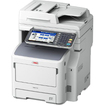 Oki - LED Multifunction Printer - Monochrome - Plain Paper Print - Desktop - White