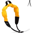 Accessory Genie - Floating Waterproof Camera Strap - Works with Canon Powershot D30 , Nikon Coolpix AW120 & More - Black, Bright Yellow