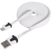 Fosmon - 6 Feet Universal Micro USB Data Transfer Flat Cable - Light Pink - Light Pink