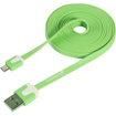 Fosmon - 6 Feet Universal Micro USB Data Transfer Flat Cable - Green - Green
