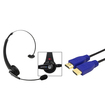 eForCity - Wireless Bluetooth Headset and 3Ft HDMI Cable 1.4 Ethernet M/M for Sony PS3