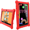 AGPtek - Children Kids Android Tablet with UI Kid Mode Silicone Case Support Google Play - Red
