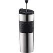 Bodum - Travel Press Coffee Maker Vacuum Large 0.45 L 15 Oz S/s - Black - Black