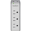 Belkin - 3-Outlet Mini Surge Protector with USB Ports (2.1 AMP)