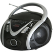 Naxa - Portable MP3/CD Player with AM/FM Stereo Radio & USB Input - Black - Black