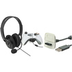 eForCity - USB Charging Cable and Headset with Microphone Bundle For Microsoft Xbox 360,Xbox 360 Slim - Black
