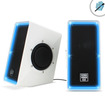 Accessory Power - SonaVERSE O2i USB Multimedia Speaker System with Cool Blue LED Glow & Passive Woofers for Desktops - white