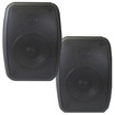 Theater Solutions - Theater Solutions TS4ODB Indoor Outdoor Weatherproof Mount Black Speaker Pair - Black