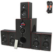 Theater Solutions - Theater Solutions TS516BT Bluetooth 5.1 Speaker System & 2 Ext Cables TS516BT-2 - Black