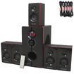 Theater Solutions - Theater Solutions TS516BT Bluetooth 5.1 Speaker System & 5 Ext Cables TS516BT-5 - Black